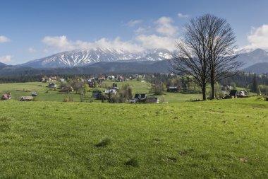 Panorama of Tatra Mountains in spring time, Poland