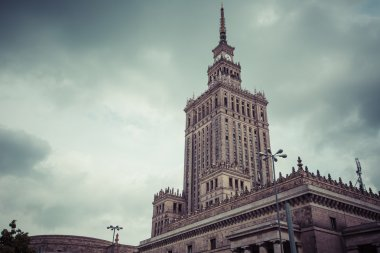 Warsaw, Poland. City center with Palace of Culture and Science (