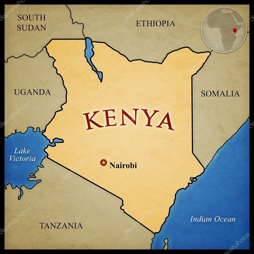 Kenya Map Stock Photo Axstokes - Kenya map