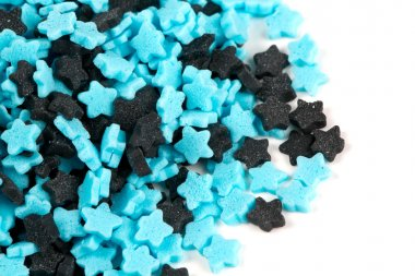 colorful star-shaped sweeets