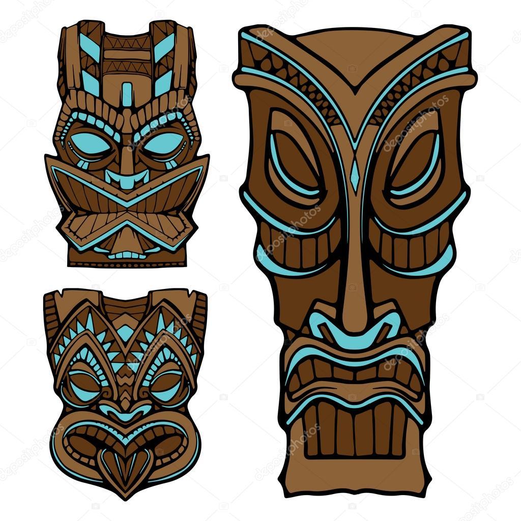 Estatua de dios de tiki hawaiano tallado ilustraci n de for Tiki hawaiano