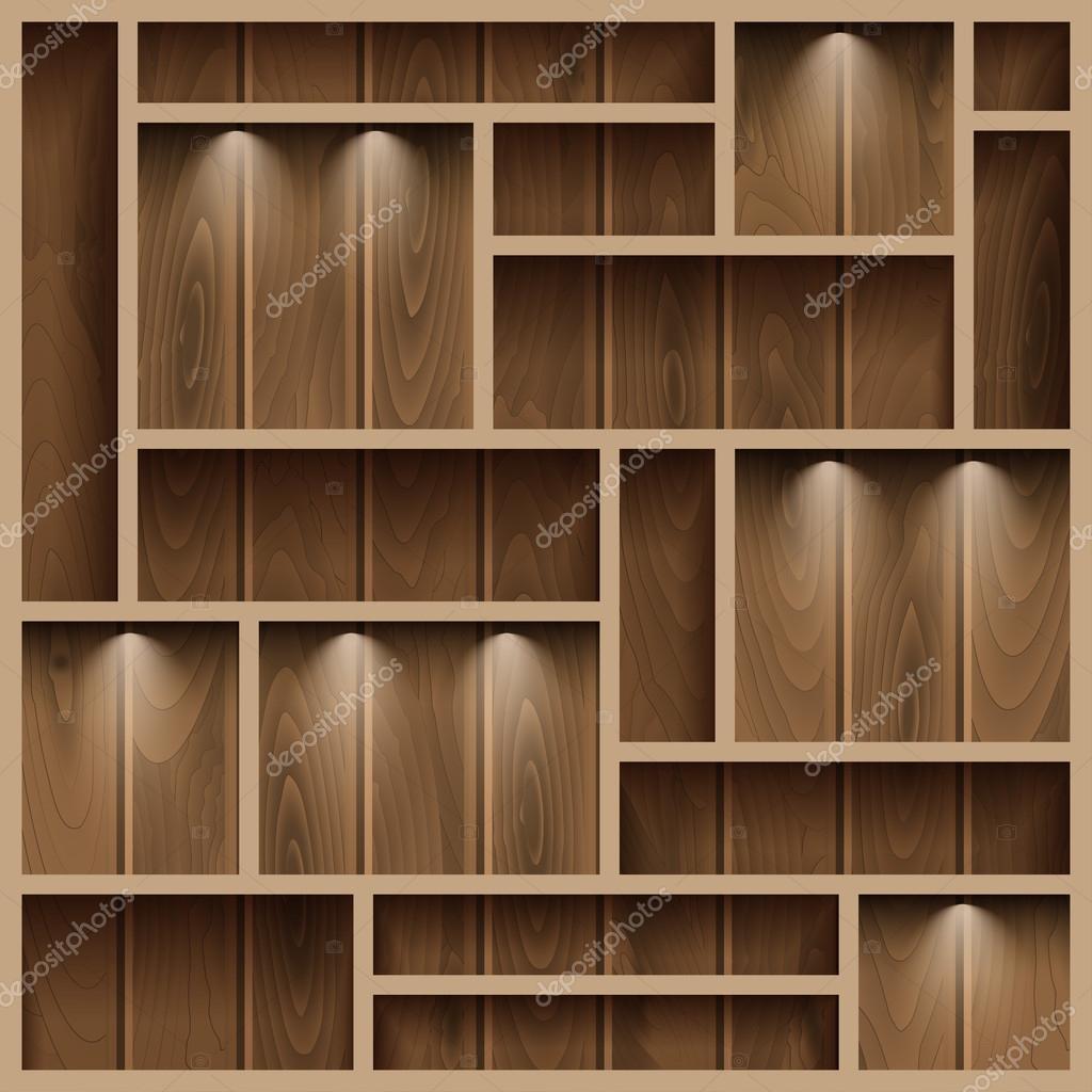 estantes de madera Archivo Imgenes Vectoriales KalomiraEL 67649399