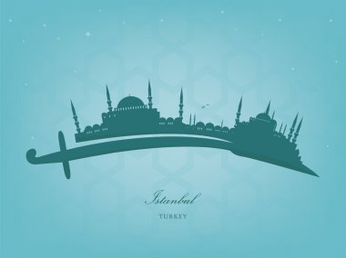 Vector Illustration of the cityscape of Istanbul