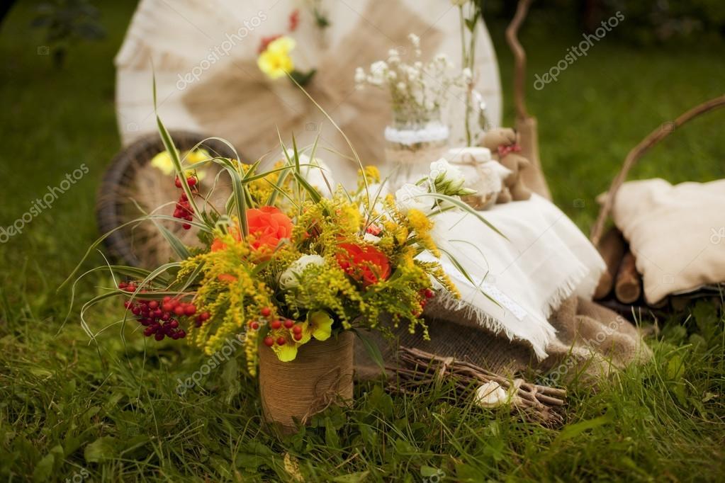 Букет из льна свадебный — img 5