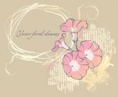 Fiore di carta da disegno vettoriale cornici a mano