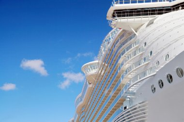 Closeup of  Cruise Ship