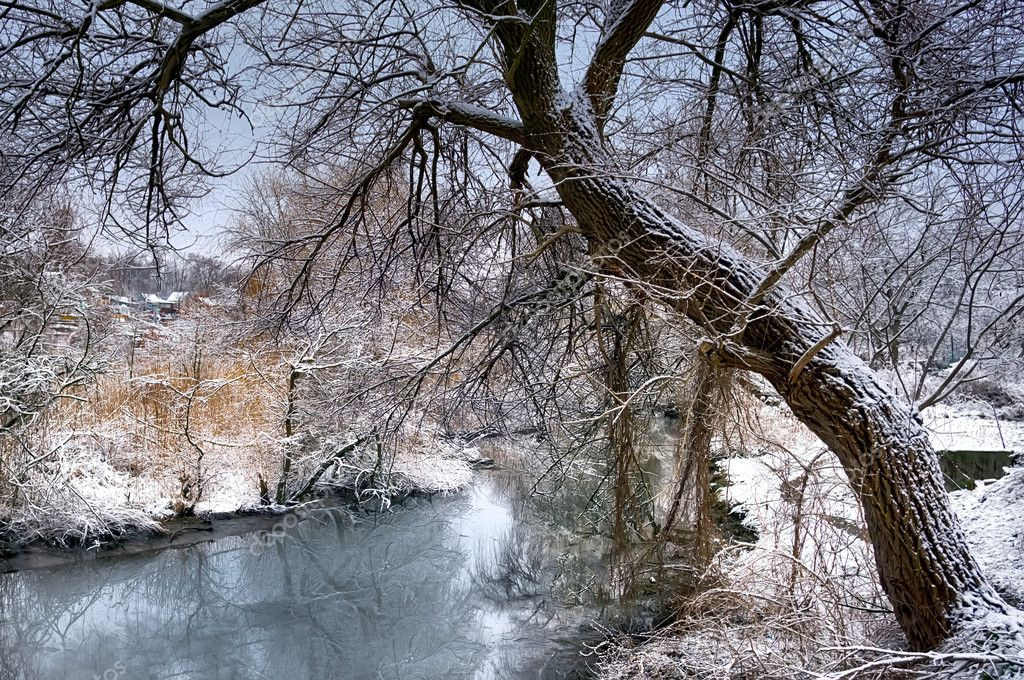 Thaw at the end of winter