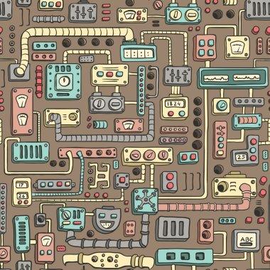 Appliances seamless pattern