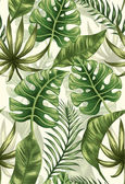 Fotografia foglie di palma tropicale