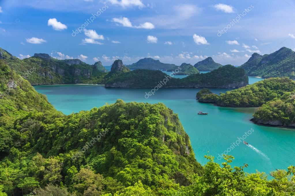 Bird eye view of Sea Thailand, Mu Ko Ang Thong island National P