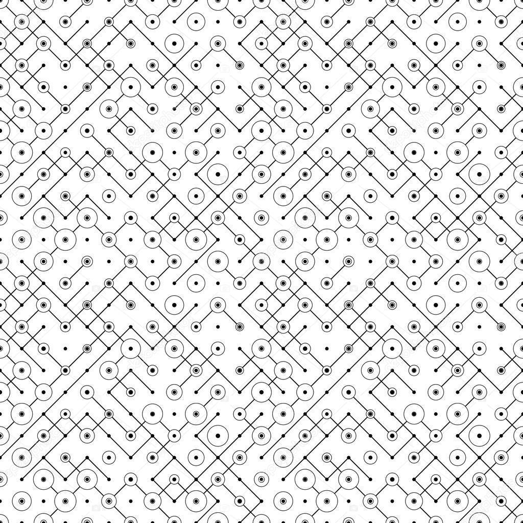 Seamless Circuit Board Pattern — Stock Vector © maxkrasnov #109853544