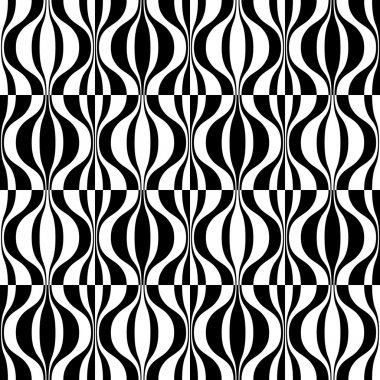 Seamless Curved Shape Pattern