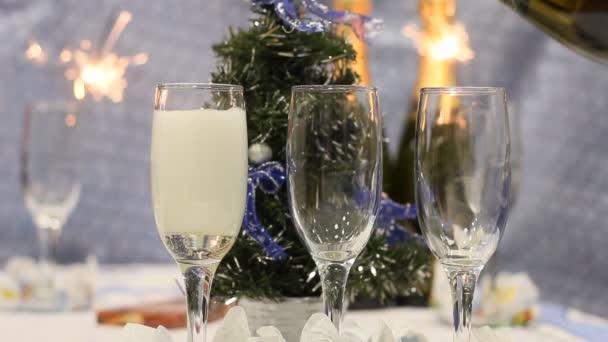 Új év pezsgős pohár