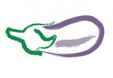 Hand drawing eggplant