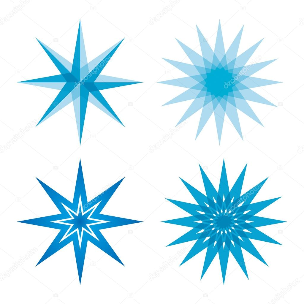 Dessin étoiles bleu — Image vectorielle eltoro69 © #86138320