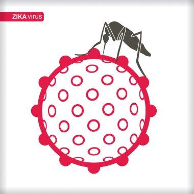 Zika Virus with mosquito