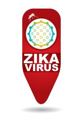 Zika Virus with mosquitoe.
