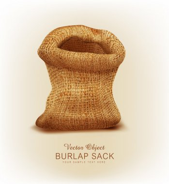 Vector object- a burlap sack