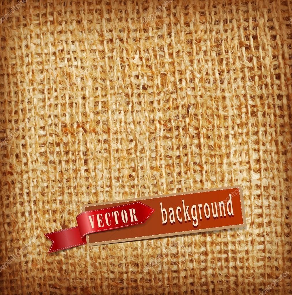 vector background (texture, burlap)