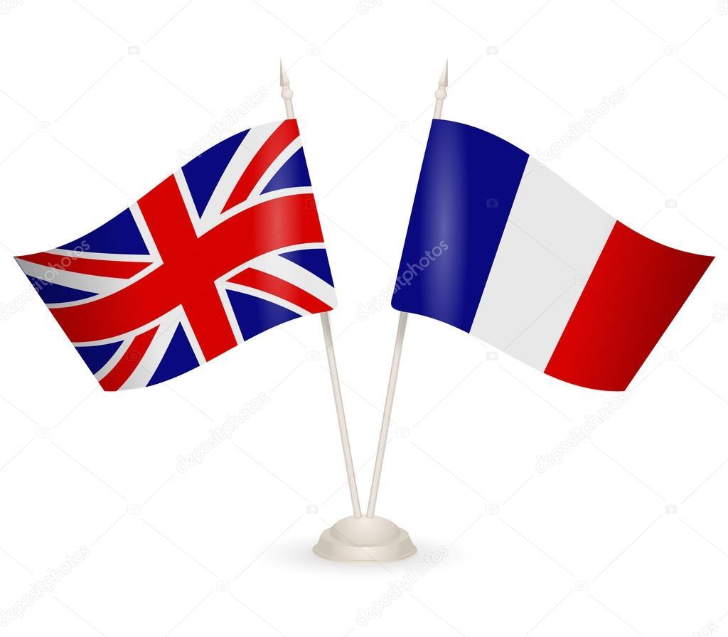 Risultati immagini per bandiera inglese e francese