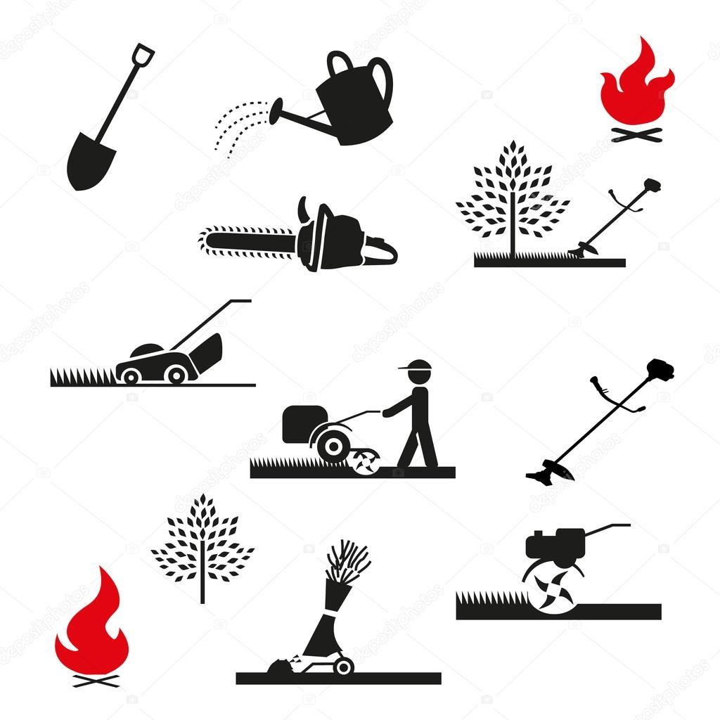 set Gardening icon