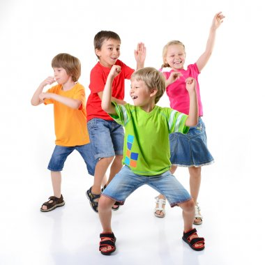 Happy children dancing