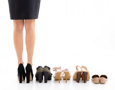 Female legs with shoes