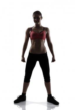 Sport woman full length portrait