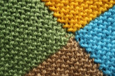 Knitted blanket background