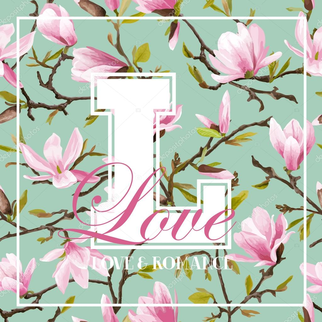 Vintage Colorful Flowers Graphic Design - for t-shirt, fashion,  prints - in vector