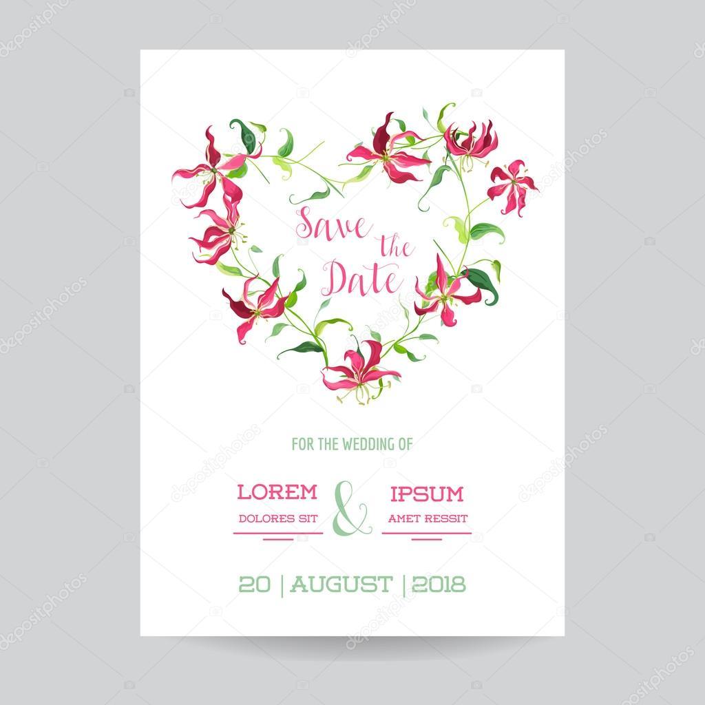 Save the Date - Wedding Invitation or Congratulation Card Set ...