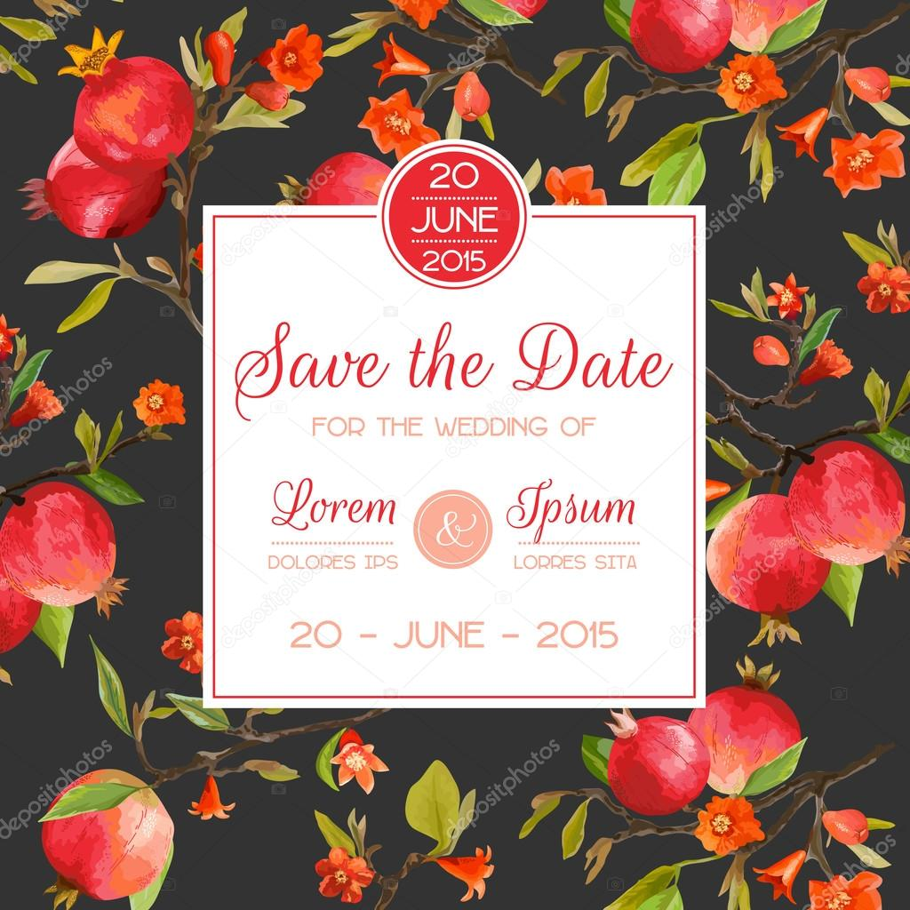 Save the Date, Invitation, Congratulation Card - for Wedding, Baby ...