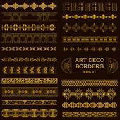 Historických hranic ve stylu Art deco a prvky návrhu - ručně kreslenou