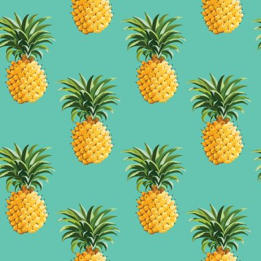 Pineapples Tropical Background