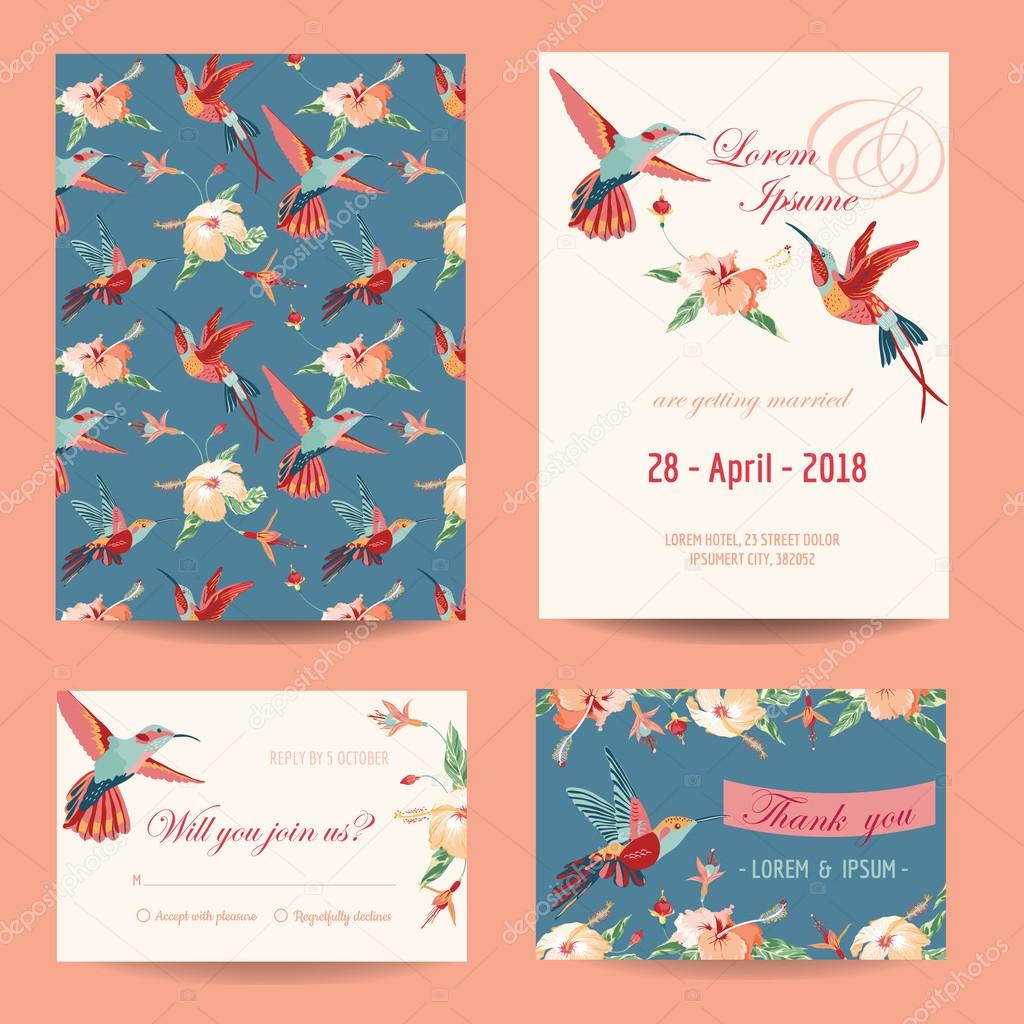 Invitation, Save the Date Card Set - for Wedding, Baby Shower