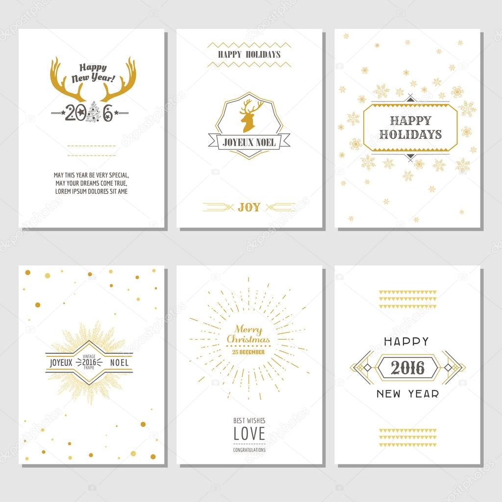 christmas and new year cards art deco style in vector vector by woodhouse