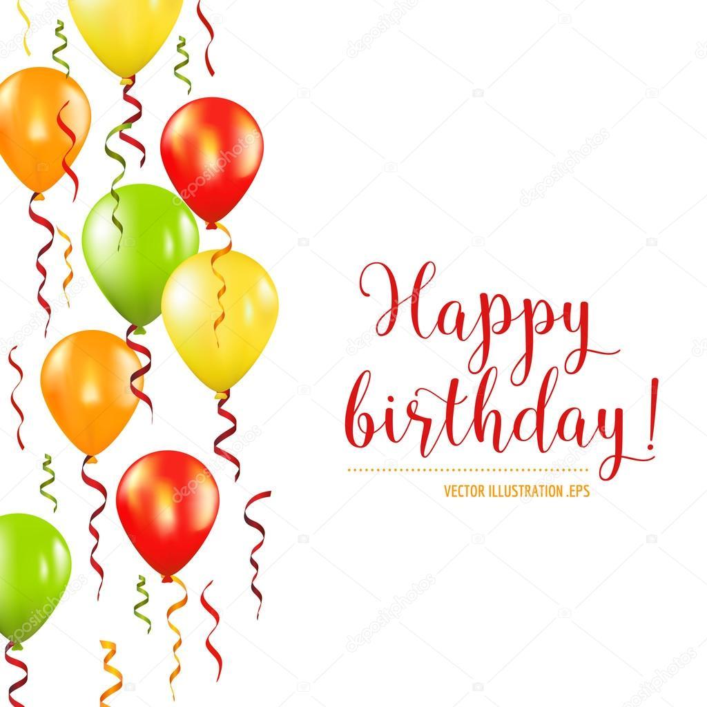 Feliz Cumpleaños Y Tarjeta De Invitación De La Fiesta Del