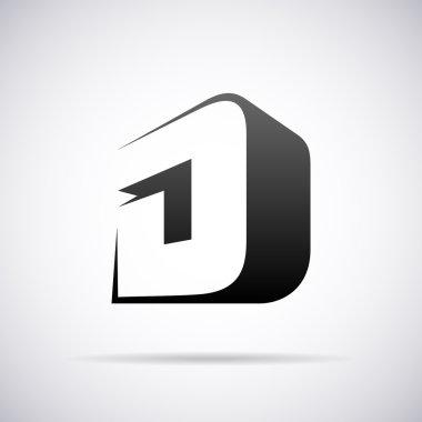 Logo for letter D design template vector illustration stock vector