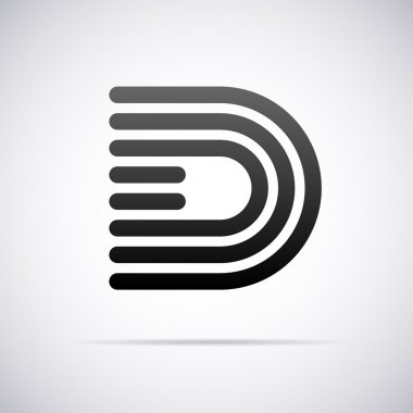 Vector logo for letter D. Design template