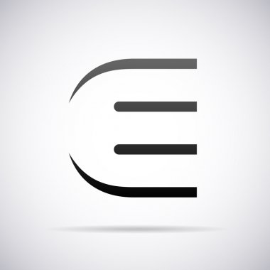 Vector logo for letter E. Design template
