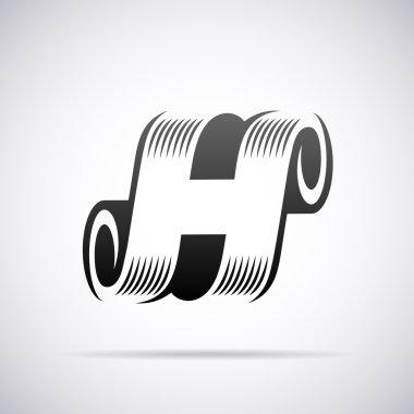 Vector logo for letter H. Design template