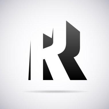Vector logo for letter B. Design template
