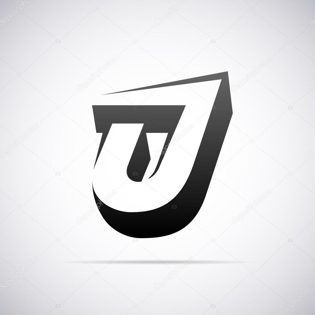 logo for letter j design template vector illustration vector by alisher