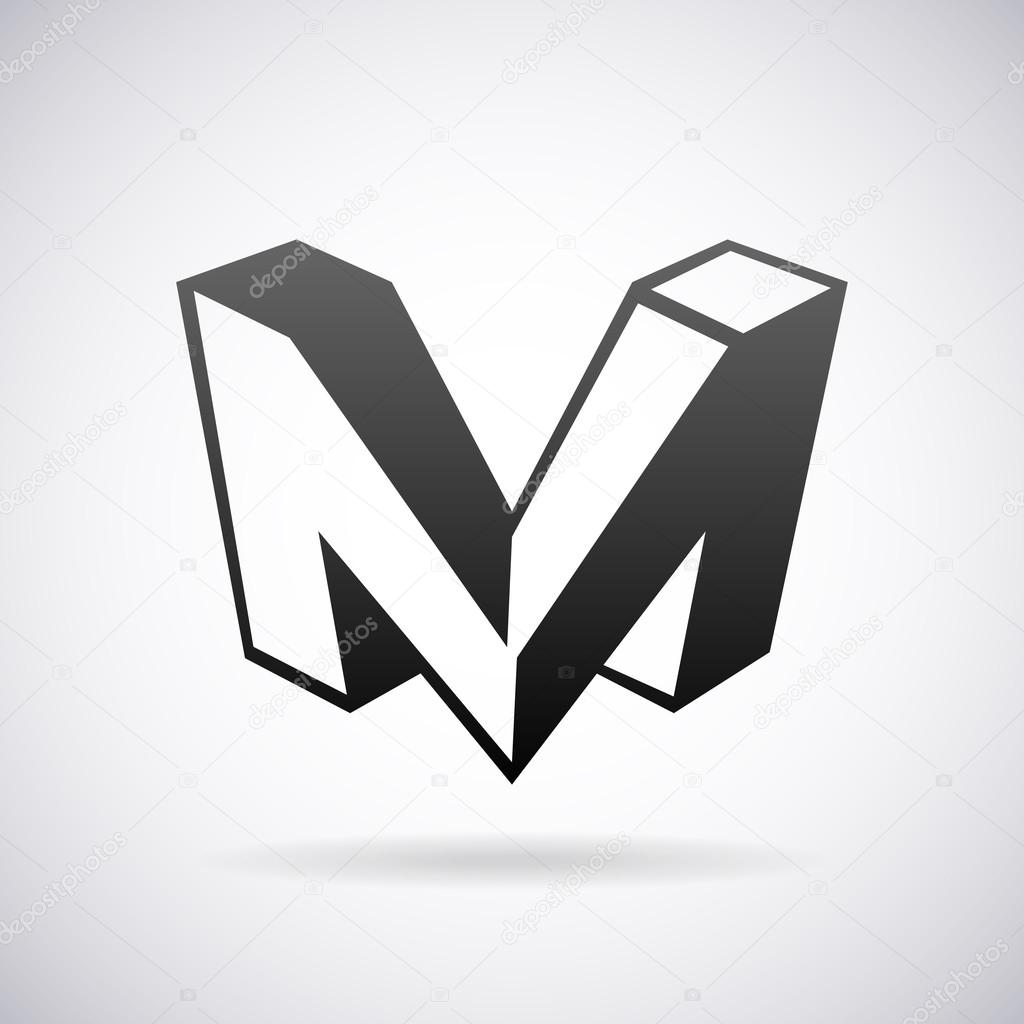 vector logo for letter m design template stock vector alisher 73265591. Black Bedroom Furniture Sets. Home Design Ideas