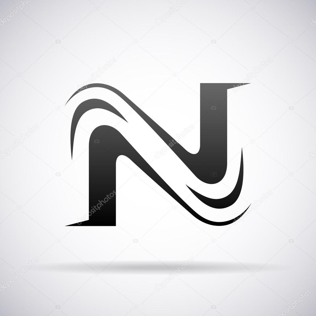 Logo For Letter N Design Template Vector Illustration By Alisher
