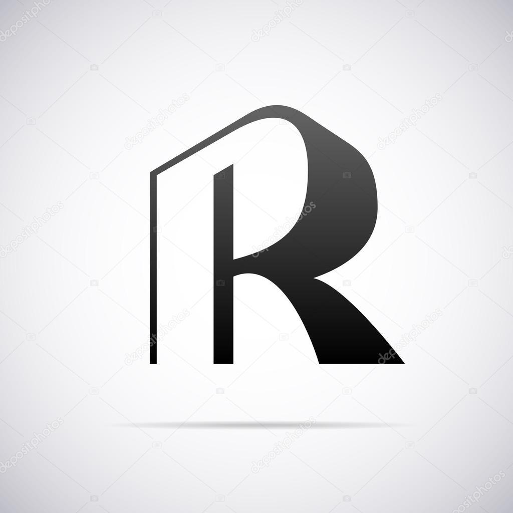 Vector Logo For Letter R Design Template Stock Vector C Alisher