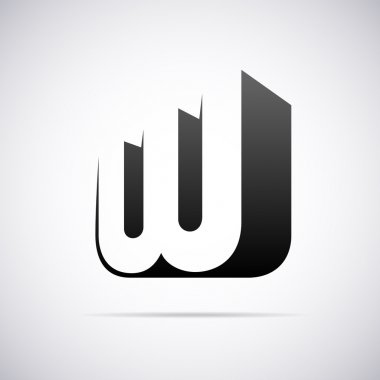 Vector logo for letter W. Design template