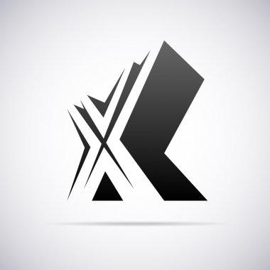 Vector logo for letter X. Design template