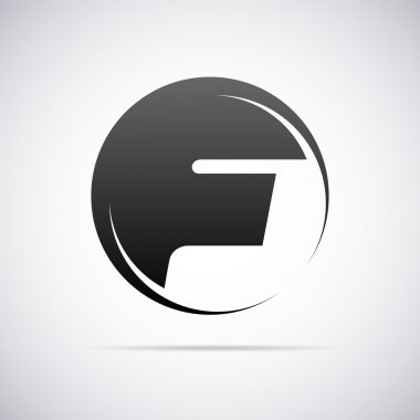 Vector logo for letter F. Design template