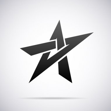 Vector star logo. Design template